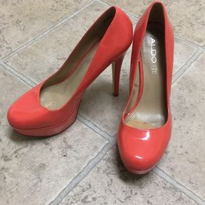 Coral ALDO stiletto pumps.